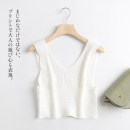 Vest sling Summer 2021 white S,M,L have cash less than that is registered in the accounts Self cultivation other other Solid color 18-24 years old 30% and below other