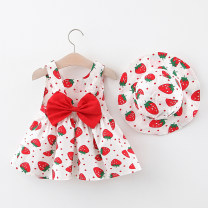 Dress female Other / other 80cm suggests 0-1 years old, 90cm suggests 1-2 years old, 100cm suggests 2-3 years old, 110cm suggests 3-4 years old Other 100% summer lady Skirt / vest Broken flowers cotton Splicing style