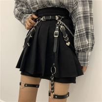 Belt / belt / chain Pu (artificial leather) Black, alone! Pin buckle 2 chain neck thigh ring, alone! Vertical bar circle leg ring, alone! Elastic love neck thigh ring, JK four piece set! I want all four! female belt Hip hop Single loop Youth, youth Pin buckle heart-shaped soft surface 1.6cm alloy