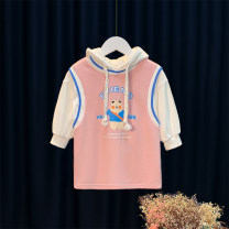 Sweater / sweater Other / other Pink female 80cm,90cm,100cm,110cm,120cm spring No detachable cap Korean version Socket Thin money No model Cotton blended fabric Animal design Cotton 79.3% pet 20.7%