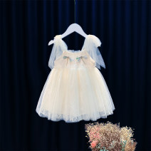 Dress Beige female Other / other 90cm,100cm,110cm,120cm,130cm Cotton 95% other 5% summer princess other Cotton blended fabric Skirt / vest 2TC48 12 months, 6 months, 9 months, 18 months, 2 years, 3 years, 4 years