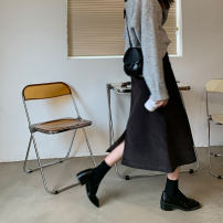 skirt Winter 2020 S,M,L Off white, black, lava cocoa, dark black grey Mid length dress commute High waist A-line skirt Solid color Type A 18-24 years old 2020.11.11 More than 95% corduroy JHXC cotton Pocket, zipper Korean version 201g / m ^ 2 (including) - 250G / m ^ 2 (including)