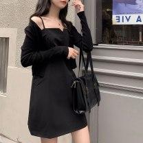 Dress Summer 2021 White, black, lotus root powder Average size 30% and below other