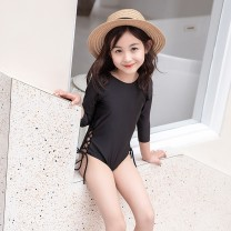Bathing suit 80cm 90cm 100cm 110cm 120cm Polyamide (nylon) 80% other 20% Black 2130 Troy female Children's one piece swimsuit Class A Summer of 2019 12 months, 18 months, 2 years old, 3 years old, 4 years old, 5 years old, 6 years old