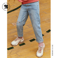 trousers Seven solo female 110cm 120cm 130cm 140cm 150cm spring and autumn trousers leisure time There are models in the real shooting Jeans Button middle-waisted cotton Don't open the crotch Cotton 97% polyurethane elastic fiber (spandex) 3% Class B Spring 2021 Chinese Mainland Zhejiang Province