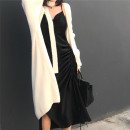 Dress Winter of 2018 Silk black (scheduled for 7 working days), silk black (in stock!) S,M,L Mid length dress singleton  Sleeveless street other Solid color Socket Irregular skirt other camisole 18-24 years old Type H Other / other Pleating, asymmetry 81% (inclusive) - 90% (inclusive) other other