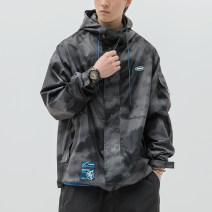 Jacket Macheda Youth fashion Black, light gray, black with cotton M,L,XL,XXL routine easy Other leisure spring 20200101JY1 Long sleeves Wear out Hood tide youth routine Zipper placket 2020 Cloth hem No iron treatment Closing sleeve other Multiple pockets with inner pocket Cover patch bag