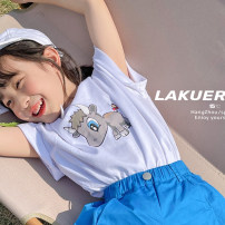 T-shirt Black (in stock), white (in stock), black reservation / no return (5-15 days), white reservation / no return (5-15 days) Other / other 5,7,9,11,13,15,17,19 female summer Short sleeve Crew neck leisure time There are models in the real shooting nothing cotton other Other 100% Class A other