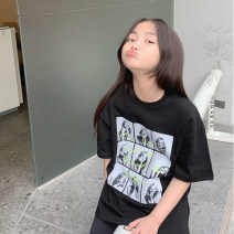T-shirt Black (spot), white (spot), purple (spot), white booking (5-15 days delivery), purple booking (5-15 days delivery) Other / other 5,7,9,11,13,15,17,19 female spring and autumn Long sleeves Crew neck leisure time There are models in the real shooting cotton other Other 100% T67 matilda Class A