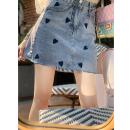 Jeans Summer 2021 Denim blue, denim S,M,L High waist 25-29 years old Fish rabbit's rabbit 96% and above