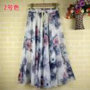 skirt Summer of 2019 XL [1'9-2'1 waist recommended], XXL [2'1-2'3 waist recommended], 3XL [2'3-2'5 waist recommended], 4XL [2'6-2'8 waist recommended] Color 1, color 2, color 3, color 4, color 5, color 6, color 7, color 8, color 9, color 10, color 11 longuette Versatile Natural waist Pleated skirt