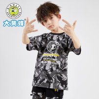 T-shirt Earthy yellow sky blue black blue (720261723) black gray (720261723) 5 Purple Black Big wasp / Bumblebee 120cm 130cm 140cm 150cm 160cm 170cm male summer Short sleeve Crew neck leisure time There are models in the real shooting nothing cotton camouflage Cotton 95.1% polyester 4.9% H630261726