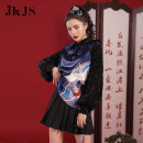 jacket Winter 2020 S,M,L,XL Royal blue top, black skirt JK0101728 25-35 years old 96% and above