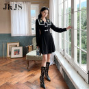 cheongsam Winter 2020 S,M,L,XL black Long sleeves Single cheongsam No slits daily 25-35 years old 96% and above