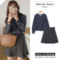 Fashion suit Autumn 2020 S,M,L,XL Dark blue, dark gray, apricot 18-25 years old 96% and above