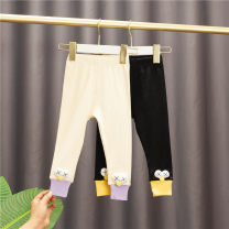 trousers Baobao elephant female 80 # (recommended height 73cm-80cm), 90 # (recommended height 85cm-90cm), 100 # (recommended height about 100cm), 110 # (recommended height about 105cm), 120 # (recommended height about 110cm) Black, light yellow spring and autumn trousers Korean version No model