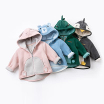 Plain coat DAVE&BELLA neutral 73cm,80cm,90cm,100cm,110cm,120cm,130cm,140cm spring and autumn Europe and America Zipper shirt There are models in the real shooting Plush No detachable cap Cartoon animation other other Other 100% Class A