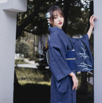 Dress Winter of 2019 Dark blue (two toe socks and handbags for free) S (suitable for height 155-165), m (suitable for height 166-170), this link only includes bathrobe, other accessories need to be purchased separately longuette singleton  Sweet Decor Type H Mountain birds and colors printing