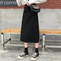 skirt Autumn of 2019 Average size Dark grey, black, blue Mid length dress Versatile Natural waist other 25-29 years old 31% (inclusive) - 50% (inclusive)