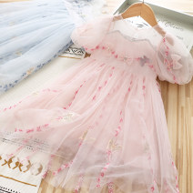 Dress Blue, pink female Other / other 100cm,110cm,120cm,130cm,140cm Other 100% summer princess Short sleeve other other Splicing style Flower fairy dress for children Class B Seven, eight, three, six, five, four, nine Chinese Mainland Hunan Province