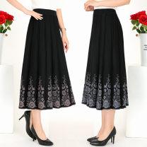 skirt Winter of 2019 XL [2 feet-2 feet 3 waist], 2XL [2 feet 3-2 feet 5 waist], 3 XL [2 feet 5-2 feet 8 waist], 4 XL [2 feet 8-3 feet waist] 173 camel, 173 gray, 1800 black, 1810 gray, 1810 camel, 1878 gray, 1878 camel, 7069 gray, 1874 gray Mid length dress commute Natural waist A-line skirt Type A