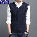 Vest / vest Youth fashion 165/M 170/L 175/XL 180/XXL 185/3XL 190/4XL Other leisure Self cultivation Woolen vest thin autumn V-neck youth 2020 tide Solid color Rib hem wool Cotton 100% No iron treatment nothing Autumn 2020