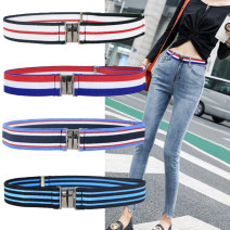 Belt / belt / chain other Black, red, dark blue, decor, apricot, sky blue, khaki, coffee, black red, red white, army green stripe, white print currency belt cowboy Single loop Children, youth, youth, middle age, old age a hook Double button soft surface 3.0cm alloy Knitting, elastic KEY WORLD 3SJDK