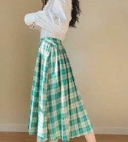 skirt Summer of 2019 S,M,L Fashionable green skirt