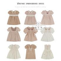Dress female Other / other 80cm,90cm,100cm,110cm,120cm,130cm,140cm Cotton 100% 12 months, 18 months, 2 years old, 3 years old, 4 years old, 5 years old, 6 years old, 7 years old, 8 years old