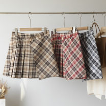 skirt Spring 2021 S,XL,L,M Black, khaki, red longuette Sweet Pleated skirt lattice 25-29 years old 51% (inclusive) - 70% (inclusive) other Stitching, sequins, folds