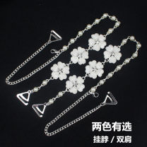 Shoulder strap A pair of blue diamond camellia, a pair of blue diamond camellia, a pair of white diamond camellia, a pair of white diamond camellia Plants and flowers Metal P7-2015 Beautiful women's supermarket Polypropylene fiber Metal decoration
