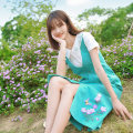 Dress Summer 2021 S M L Mid length dress singleton  Sleeveless 25-29 years old ATAR More than 95% polyester fiber Polyester 100%