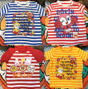 T-shirt Red stripe yellow stripe blue stripe red big head blue spaceship Other / other 100cm length 42 chest 66 95cm length 38 chest 64 90cm length 37 chest 58 80cm length 35 chest 56 neutral Cotton 100%