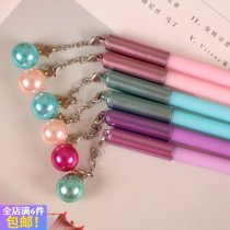 Roller ball pen Angel Zimu 0.5mm Others black Ball pendant Pink (1) Purple (1) blue (1) Other white collar students Daily writing no Ball pendant