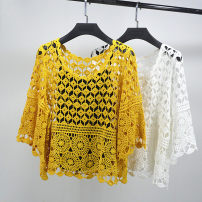 Wool knitwear Spring 2020 Average size White, yellow elbow sleeve Two piece set Socket cotton 91% (including) - 95% (excluding) have cash less than that is registered in the accounts routine commute A-type Low crew neck pagoda sleeve Solid color Socket Korean version
