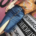 skirt Summer of 2018 S M L XL navy blue Middle-skirt street A-line skirt Solid color 8879# 81% (inclusive) - 90% (inclusive) other cotton Splicing