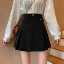 skirt Winter 2020 S,M,L Short skirt commute High waist Pleated skirt 18-24 years old Korean version