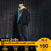 sweatpants  S M L XL trousers FIVE cm BKX / black GYX / medium grey Other leisure Youth fashion Straight cylinder routine tide 2018 5CXPTB6706F8B Cotton 95% polyurethane elastic fiber (spandex) 5% Autumn of 2018 Same model in shopping mall (sold online and offline)