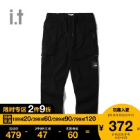 Casual pants izzue Youth fashion BGT / khaki BKX / Black 4 2 3 5 trousers Other leisure Straight cylinder IZXPTN6126F9D Cotton 98.2% polyurethane elastic fiber (spandex) 1.8% Autumn of 2019 Same model in shopping mall (sold online and offline)