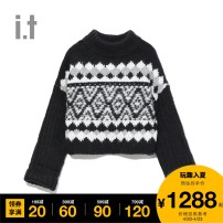 Wool knitwear Winter 2020 XS S M Long sleeves acrylic fibres 51% (inclusive) - 70% (inclusive) Regular free people Same model in shopping mall (sold online and offline)