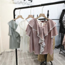 shirt Coffee white, light green, beibai Average size Summer 2021 other 71% (inclusive) - 80% (inclusive) Short sleeve Sweet Regular Single row multi button C@C-3/4-2