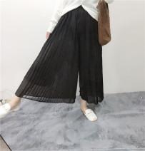 Casual pants Black, khaki, coffee Average size Autumn 2020 trousers Versatile 51% (inclusive) - 70% (inclusive) AP—83
