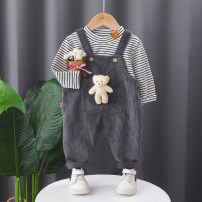 suit Other / other 73cm,80cm,90cm,100cm,110cm,120cm neutral spring and autumn leisure time Long sleeve + pants 2 pieces routine No model Socket nothing stripe cotton children Learning reward Class A Cotton 95% other 5%