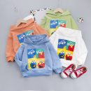 Sweater / sweater Other / other Orange, blue, green, white neutral 80cm,90cm,100cm,110cm spring and autumn No detachable cap leisure time Socket routine No model cotton Cartoon animation Cotton 95% other 5% XYF006 Class A