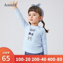 T-shirt Annil / anel 110cm,100cm,120cm,90cm,80cm female spring and autumn Long sleeves Crew neck leisure time There are models in the real shooting nothing other Cartoon animation Cotton 94.9% polyurethane elastic fiber (spandex) 5.1% Class A