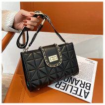 Bag The single shoulder bag PU Small square bag Mu Shichun brand new European and American fashion Small leisure time soft Zipper buckle no Solid color Single root One shoulder cross Yes youth Horizontal square chain Chain handle polyester fiber inside pocket with a zipper soft surface