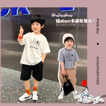T-shirt White spotted dog t-shirt , Grey spotted dog t-shirt A Xiaoxuan 90cm, 100cm, 110cm, 130cm, 140cm, 150cm, 120 (Xiaoxuan size) male summer Short sleeve There are models in the real shooting No detachable cap other Cartoon animation Chinese Mainland Jiangsu Province Nanjing City