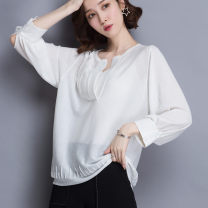 Wool knitwear Summer of 2019 Average size White, dark blue, light apricot, dark apricot Short sleeve singleton  Socket nylon 30% and below have cash less than that is registered in the accounts ultrathin easy Half height crew neck routine other Socket qs-1831 25-29 years old