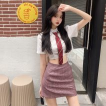 Fashion suit Summer 2021 S,M,L Top + tie, shorts and skirt 18-25 years old 51% (inclusive) - 70% (inclusive)