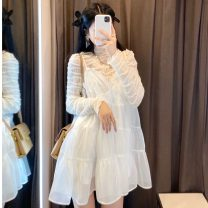 Fashion suit Spring 2021 Average size Beige base and white suspender skirt 18-25 years old Other / other A1091 polyester fiber